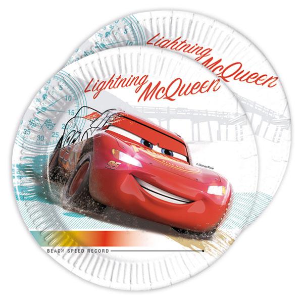 Lightning McQueen Kuchenteller, 8 Stück, 19,5 cm