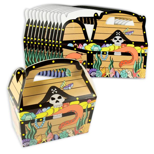 Piraten Geschenkschachteln, 12 Stk, 12cm x 12,5cm x 6cm