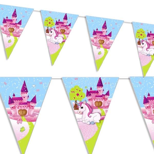 Süßes Einhorn-Wimpelkette für Indoor-& Outdoor-Party, Folie, 2,3 m