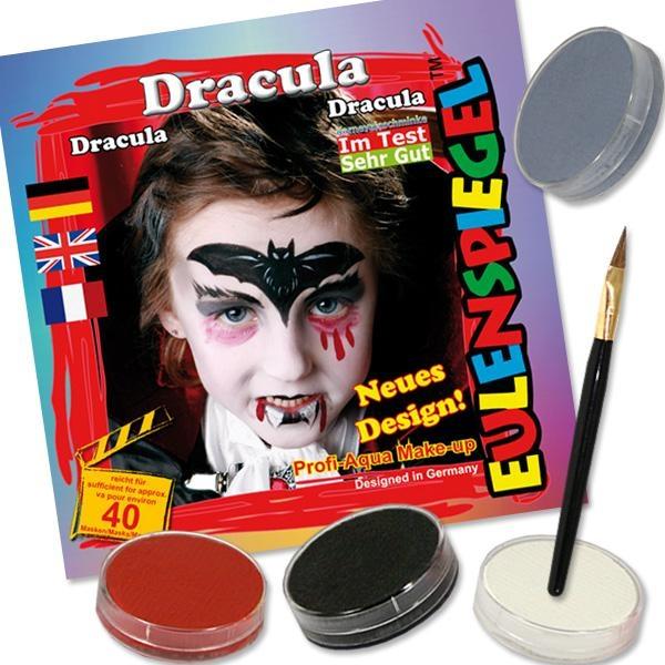 Kinderschminke-Set Dracula der Vampir, Profi-Aqua, 4 Farben+Pinsel