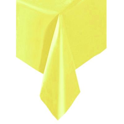 Tischdecke gelb 1,4 × 2,7 m, einfarbige Partytischdecke, abwischbare Folie