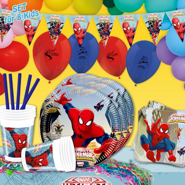 Spiderman - Mottopartyset XL, 140-teilig