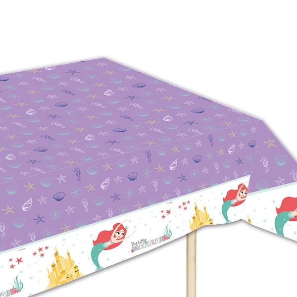 Arielle Tischdecke für Mottoparty Meerjungfrau, Folie, 120x180cm