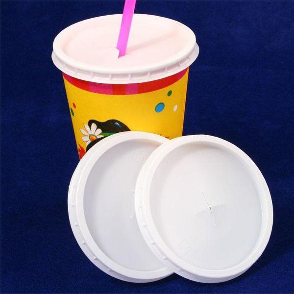 Shake Deckel Set, 10er Pck, Ø 85mm, aus Polystyrol, für Milchshakes etc.