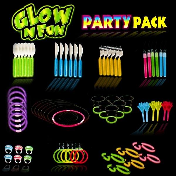 Neon Party-Set - Knicklichter, 1 Koffer mit vielen Accessoires