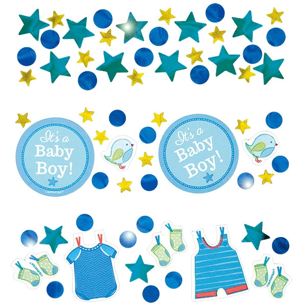 It's a boy Konfetti-Streudeko 34 g für Babyparty-Tischdeko Jungen Geburt