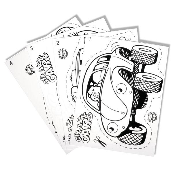 Schrumpffolien-Set mit Autos 8 -tlg.