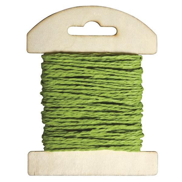 Papier Kordel 10m in Avocado-Farbe zum Basteln und Nähen, 1 Spule