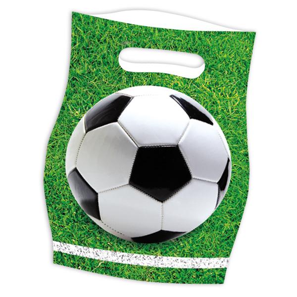 Fußball Mitgebseltüten, 6 Stk., 16cm x 23cm