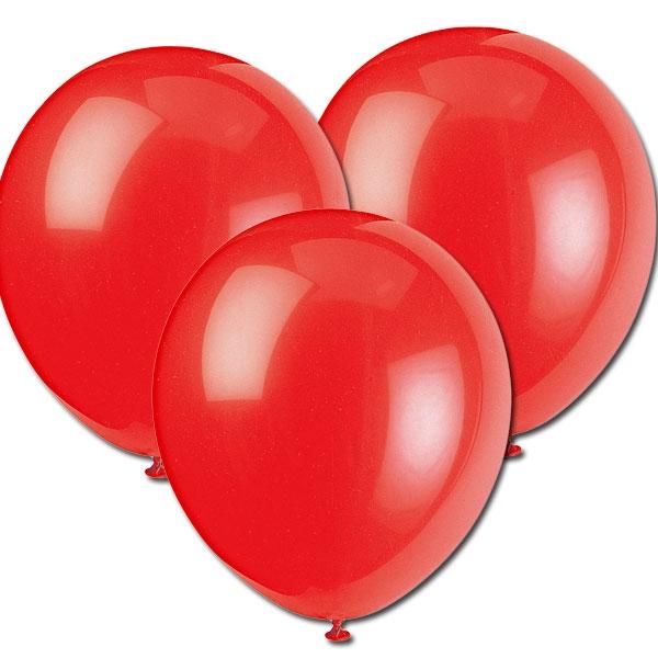 Rote Luftballons, 30cm, 10 Stück