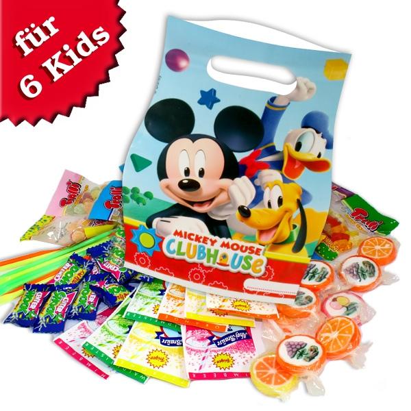 Mickey Maus Tütchenset mit Süßem, 6er