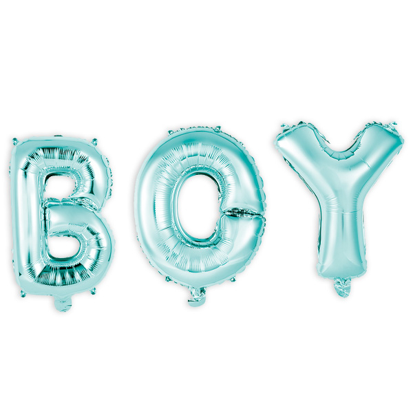 """Folienballons """"BOY"""", 41cm hoch"""