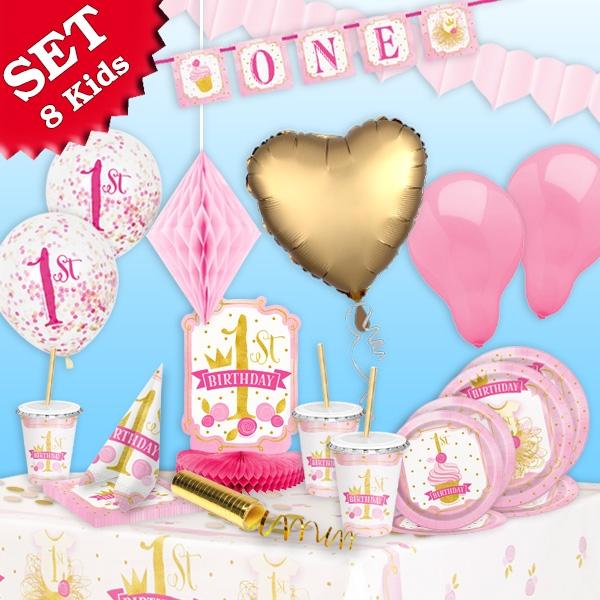 1. Geburtstag XXL Partyset, 82-teilig für bis zu 8 Gäste