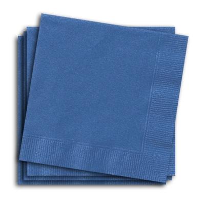 Papierservietten blau, 25cm, 20 kleine Partyservietten, einfarbig