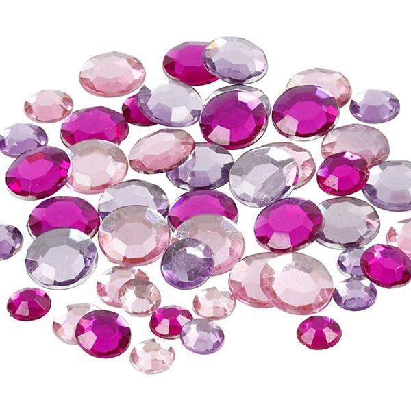 Strasssteine lila rund 360 Stück zum Basteln von Schmuck-Accessoires