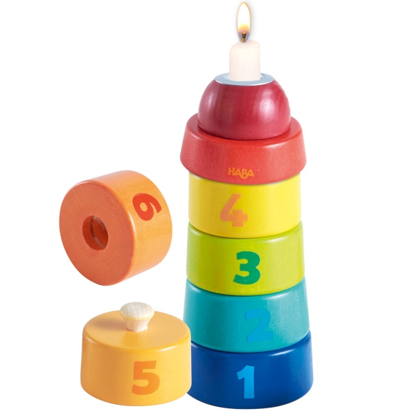 Geburtstagsturm von Haba, Zahlen 1 bis 6, 7-tlg, 20cm