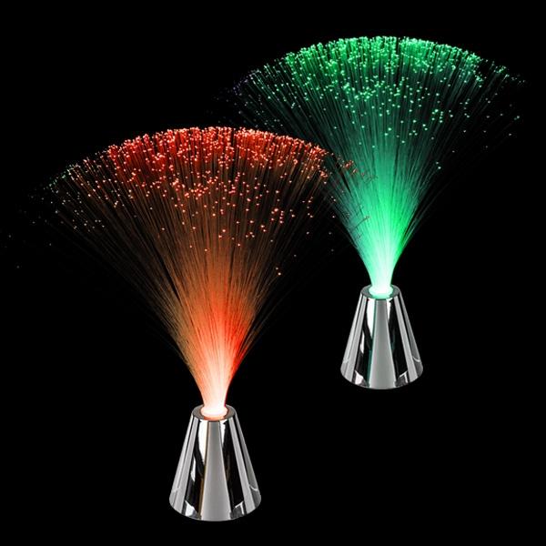 LED Glasfaser-Lampe 30cm, 1 Stück Glasfaserleuchte für Kinderzimmer