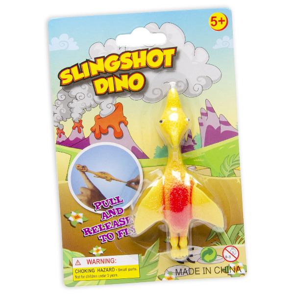 Schleuder-Dinosaurier aus Gummi, 1 Stück