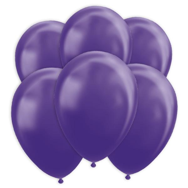 Lila Metallic-Ballons, 10 Stk., 30cm