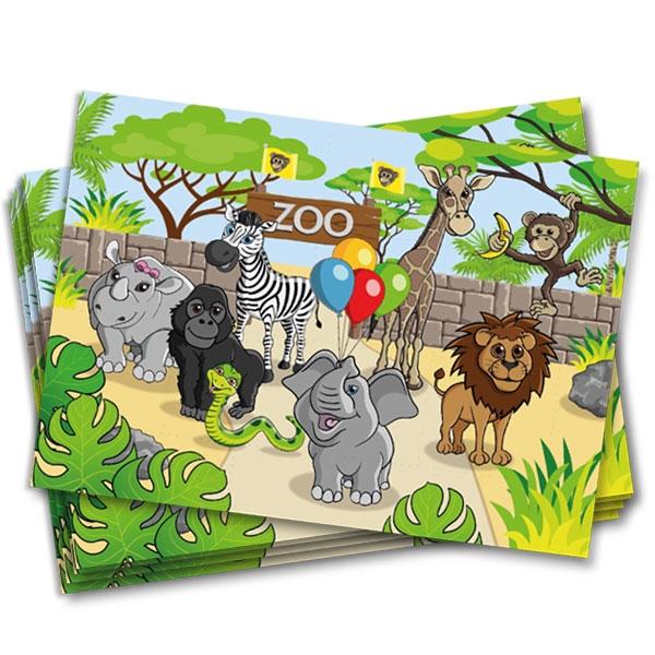 Zoo Platzdeckchen, Untersetzer, 8 Stk, 38cm x 27cm
