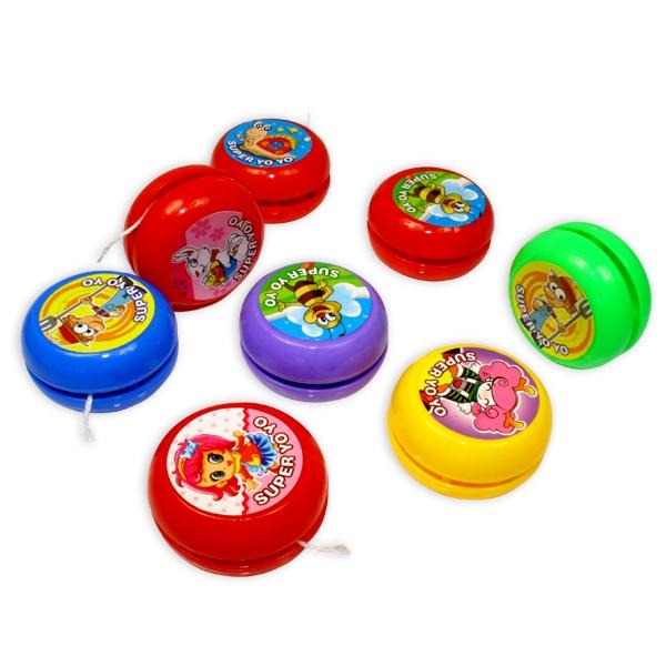 Jojo für Kinder, Yoyo-Spiel mit Biene, Hase, Mädchen o.a. Motiv, 1 Stück