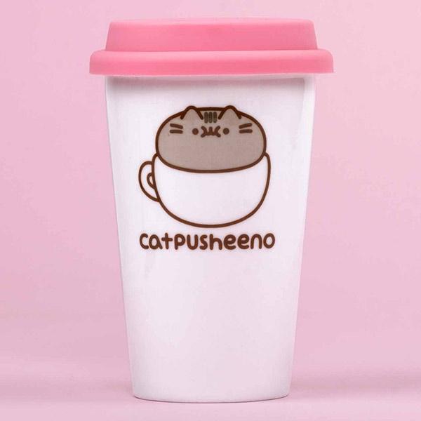 """Catpusheeno"", To go-Becher aus Keramik, 1 Stück"