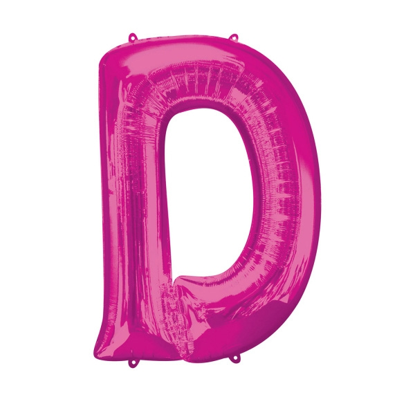 """Folienballon Buchstabe """"D"""" - Pink für individuelle Sprüche, 83 × 60 cm"""