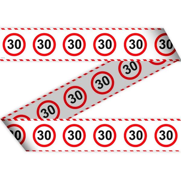 "Absperrband ""Verkehrsschild"" zum 30. Geburtstag, 15 Meter lang"