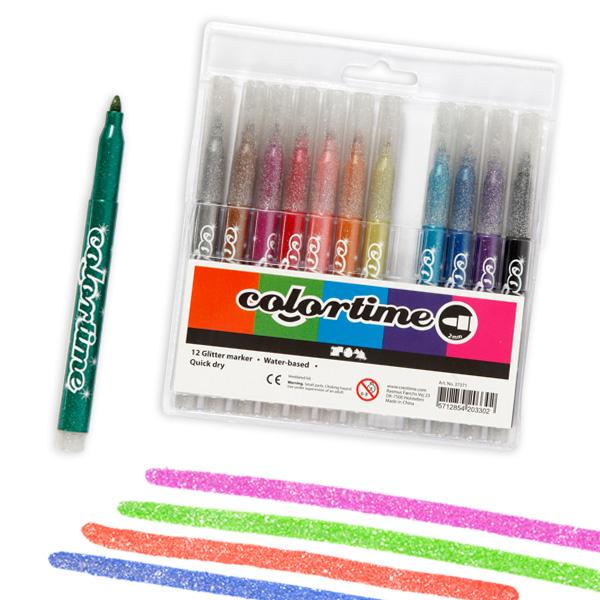 12 Colortime Glitzermarker