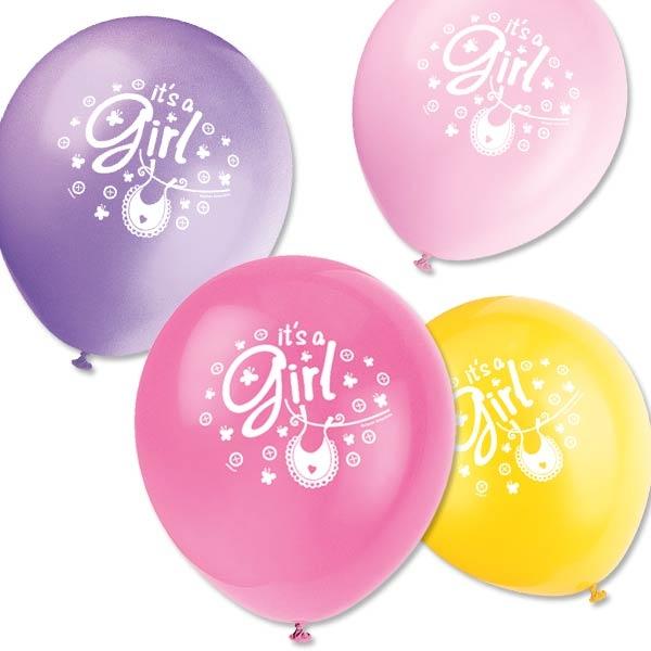 Luftballons Its a Girl zur Baby Shower-Party, 8er Pck, 30,4cm
