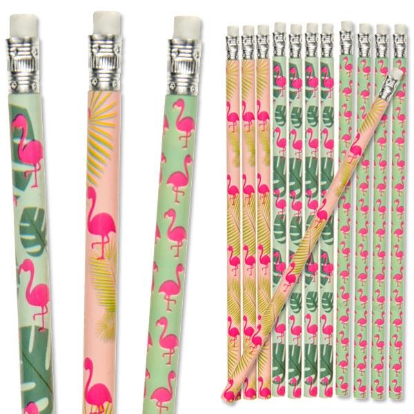 Bleistift Flamingo, 12er Pck, mit Radierer