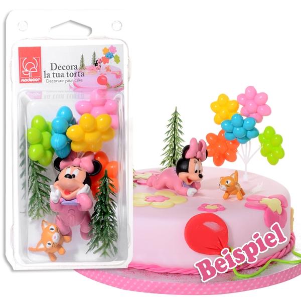 Baby Minnie Mouse Tortenfiguren-Set, 5-tlg.Tortendeko Babyparty