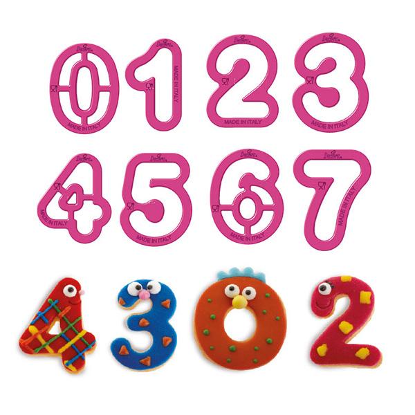 Ausstechformen Zahlen 0-9 aus Kunststoff