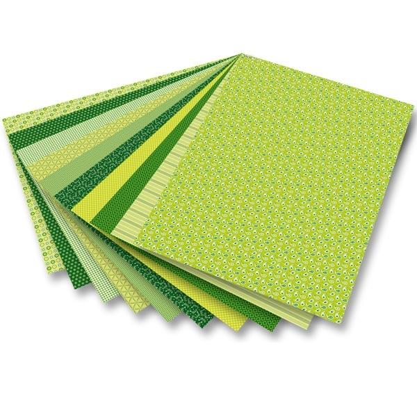 Motivblock Basics grün mit 30 Seiten Motivkarton und -papier, 24×34cm