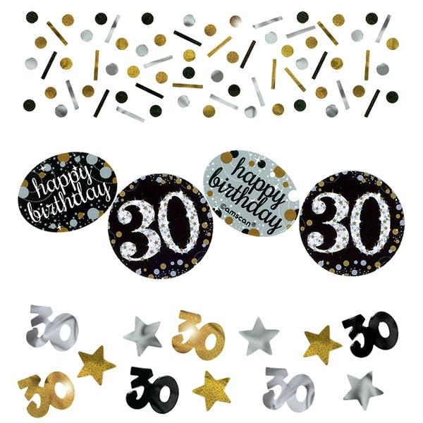 Sparkling Celebr. 30. Geburtstag, gold-silbern, 34g,