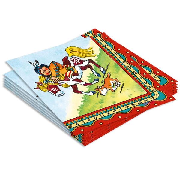 Indianer Yanuk Servietten 20er, 3-lag. Papierservietten für kleine Kinder