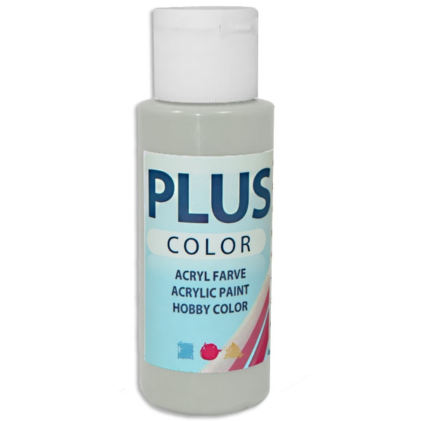 Bastelfarbe Plus Color Hellgrau, 60 ml, äußerst gute Deckkraft
