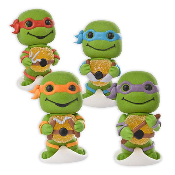 Zuckerfigurenset, Ninja Turtles, 4-tlg.
