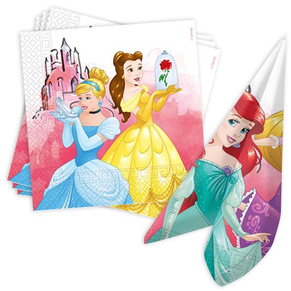 Disney Prinzessinnen Servietten, 20 Stk, 33cm x 33cm