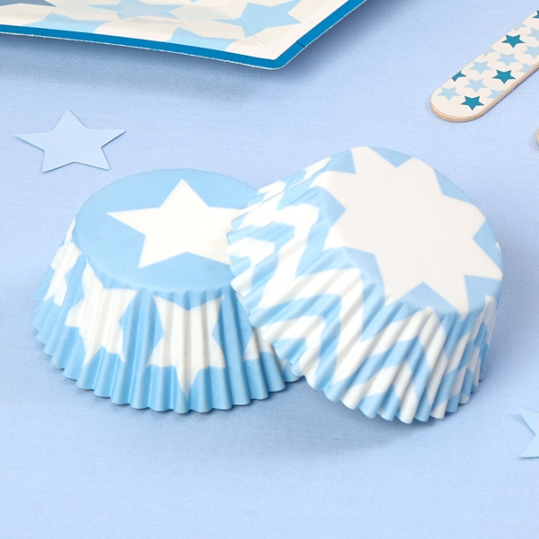 """Muffinformen """"Kleiner Stern"""" in blau, 100 Stück"""