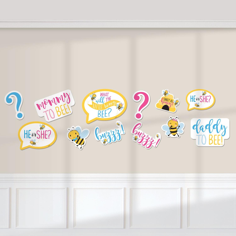 Baby Shower Bienchen Deko-Motive, 12er Pck, 17,7cm bis 27,9cm