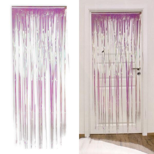 Folien-Türvorhang, irisierend, ca. 75cm x 210cm
