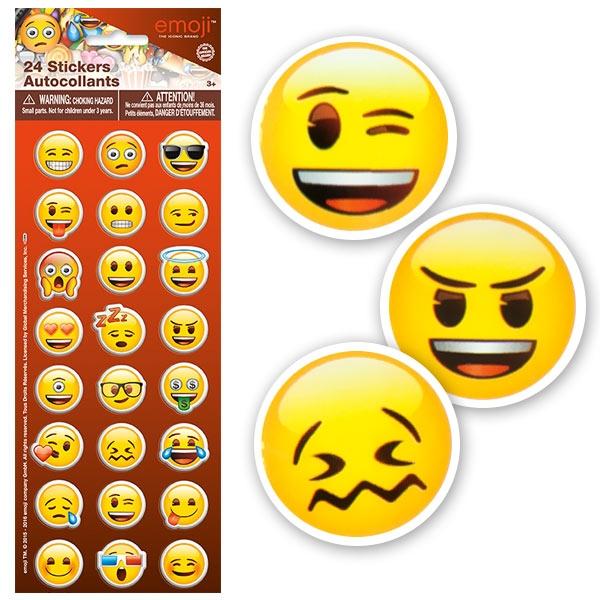 Emoji Aufkleber, 24 einzelne Chat-Gesichter