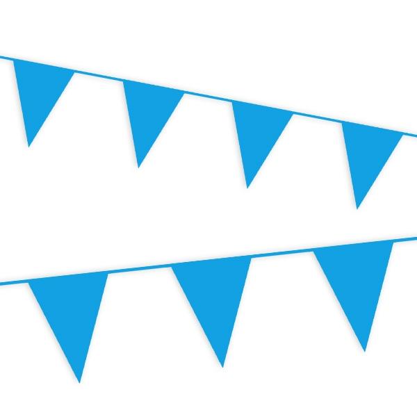 Wimpelkette in Blau aus Folie, Partydeko für draußen, 10 m