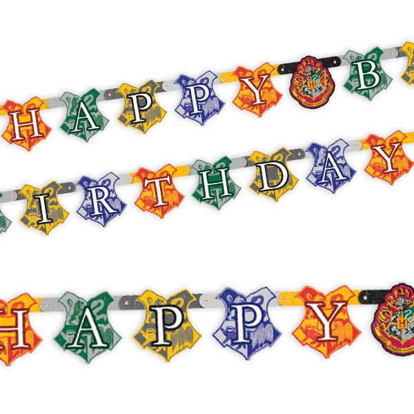 """Harry Potter"", Happy Birthday Banner, 1,82m"