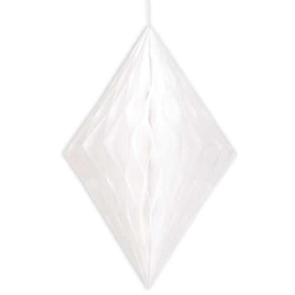 Wabendiamant weiß, Wabendeko zum Aufhängen, 35,5cm, 1 Stück