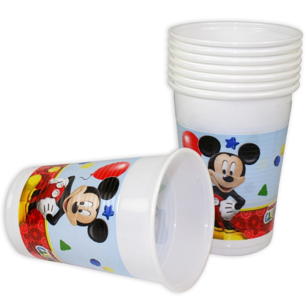 Mickey Maus Plastikbecher, 8 Stk., 200ml
