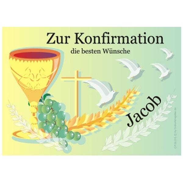 Kuchenauflage für Konfirmation +Name, rechteckig, passendes Motiv, EA4