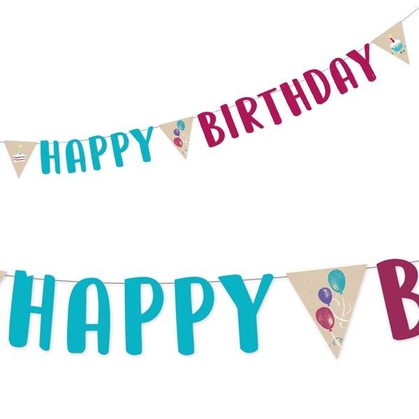 """""""My Happy Birthday"""" Partykette, 1,8m, Partygirlande"""