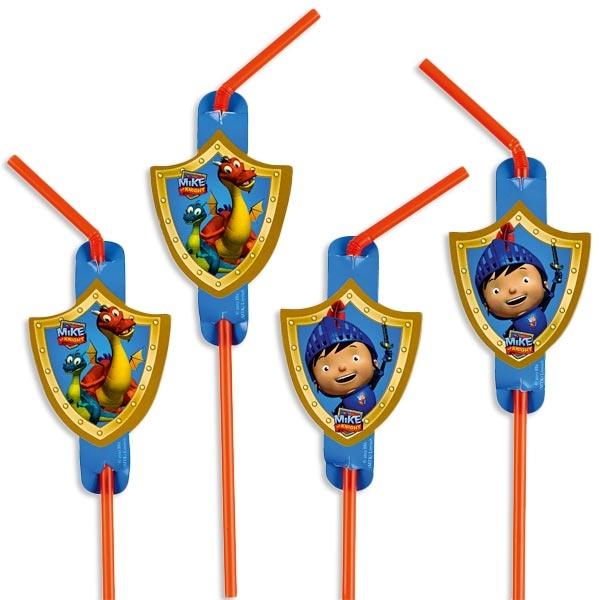 Mike der Ritter Trinkhalme 8 Stück für Ritterpartys von Kindergartenkindern